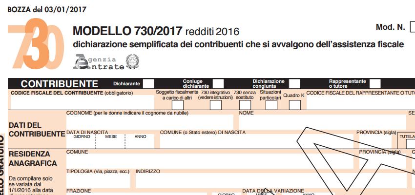 Home notizie modello 730 2017 alcune novit for Scadenza modello 730 anno 2017